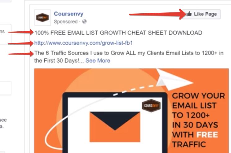 рекламный пост фейсбук - с кнопкой лайк