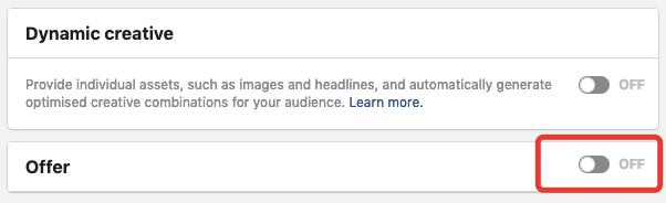 оффер фейсбук чтобы таргетировать рекламу инстаграм