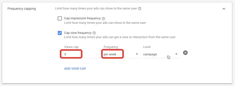 частота показов рекламы ютуб